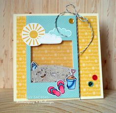 Hello sunshine ... a shaker card!