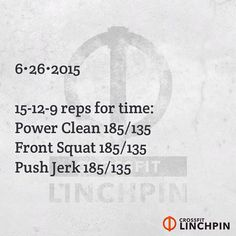 Scale as needed. Post times to comments. #CrossFit