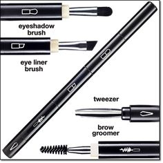 4-in-1 Eye and Brow Wand - this multi-purpose makeup wand includes 4 detachable tools: an eyeshadow brush, eye liner brush, tweezer, and brow groomer. Buy this wand online at http://eseagren.avonrepresentative.com/