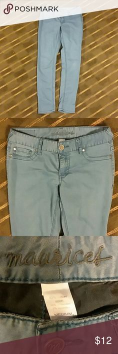 Jeggings Very pretty light soft blue.  Great condition!! Maurices Pants Leggings