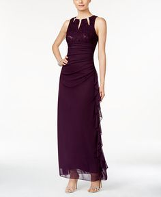 179.00$  Watch now - http://vinjy.justgood.pw/vig/item.php?t=l4ppy2w47235 - Sleeveless Embellished Lace Gown 179.00$