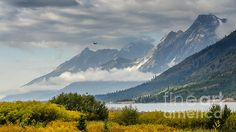 Low Clouds On The Teton Mountains by Debra Martz Grand Teton National Park in Wyoming, USA