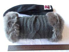 Nr. 10 Kaninchenfell-Wollstrick Muff! Unikat von Cerrita Corium auf DaWanda.com