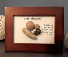 Pebble Art Grandparent/Grandchild or Parent/Child Pebble Mosaic, Pebble Art, Mosaic Art, Happy Grandparents Day, Rock Family, Rock And Pebbles, Repurposed Items, Adult Crafts, Frame Crafts