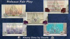Khany Sims - Rideaux - sims 4 - Curtains