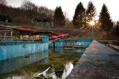 Abandoned swimming pool