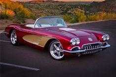 Muscle Cars, GSD,s. Protect the wolves, horses. Chevrolet Corvette, 1961 Corvette, Jaguar V12, Vintage Cars, Antique Cars, American Auto, Las Vegas Blvd, Corvette Convertible, Barrett Jackson Auction