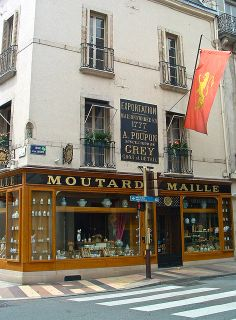 The original site of Poupon and Grey's Mustard in Dijon, France