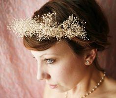 whimsical ivory bridal tiara 'diamond in the sky'