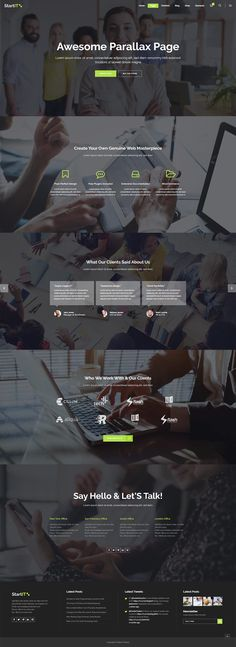 Startit WordPress theme comes with an amazing collection of distinct layouts for you to choose from. Types Of Technology, App Landing Page, Create Your Website, Building A Website, Layout Template, Start Up Business, Say Hello, Cryptocurrency, Wordpress Theme
