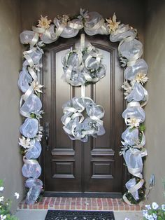 Front door - Christmas - turned out better than I dreamed