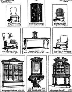 American Georgian Furniture  Queen anne Furniture and Boys
