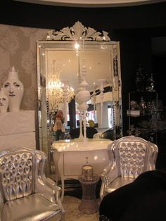Glam. eclectic. Fabulous!! This mirror belongs in my future closet