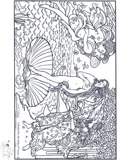 """The Birth of Venus"", by Boticelli: This site makes you sit through a short ad before loading the coloring page."