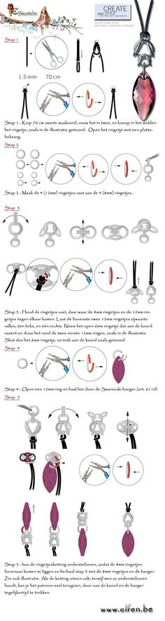 Free tutorial for Chain Maille Pendant from elfen.be. No English but  the pictures are fairly self explanatory!