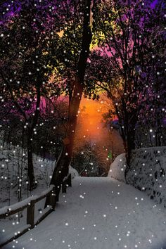 """Photo: """"How many lessons of faith and beauty we should lose, if there were no winter in our year! Winter Szenen, Winter Magic, Winter Time, Beautiful Gif, Beautiful Places, Beautiful Pictures, Beautiful Sunset, Winter Pictures, Christmas Pictures"""