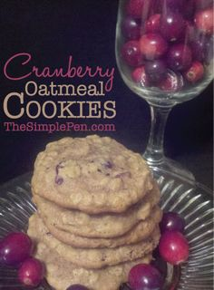 Cranberry Oatmeal Cookies :: Can also be made with raisins or chocolate chips