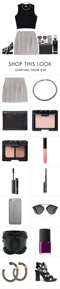 """so in love that i acted insane"" by katie-tx ❤ liked on Polyvore featuring Balmain, David Yurman, Yves Saint Laurent, NARS Cosmetics, Native Union, Christian Dior, Chanel and Alexander Wang"