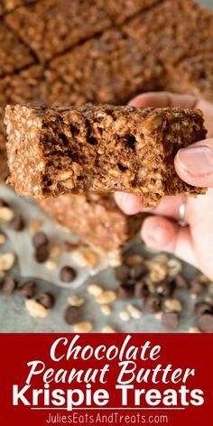 Chocolate Peanut Butter Rice Krispies Treats + VIDEO - Julie's Eats & Treats