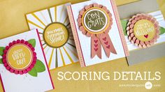 Hello! Today I show how to add simple scoring details to your card for a bit of texture and interest. I also show several fun new Concord & 9th products that you must see...