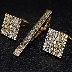 Swank Cufflinks and Tieclip Set Vintage Black Onyx Formal Wear with Box Formal Stud Set Suit Up Classic Fashion Tuxedo Wear