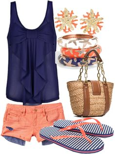 """summer"" by hotcowboyfan ❤ liked on Polyvore"