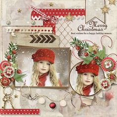 Classic Christmas by Eudora Designs Template by Fiddle-Dee-Dee-Designs Photo on Pixabay Christmas Scrapbook Layouts, Scrapbook Page Layouts, Scrapbook Paper Crafts, Scrapbooking Ideas, Christmas Layout, Digital Scrapbooking, Scrapbook Images, Scrapbook Albums, Scrapbook Cards