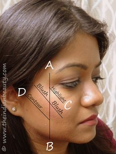How to apply blush/ contour cheeks - I guess I am going to try it! You know, when I break down and actually buy makeup.