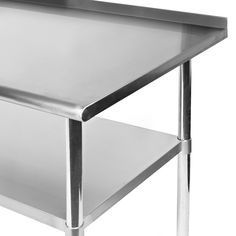 KuKoo Stainless Steel Commercial Catering Table Kitchen Work Bench - 18 wide stainless steel work table