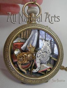 Cats in Window – Vantage Point - sculpture made of watch parts by Sue Beatrice / All Natural Arts