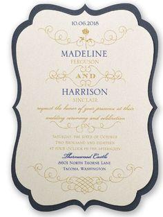 Disney Wedding Invitation: Belle's Luxurious Rose