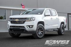 "2016 Chevrolet Colorado with 20"" Black Rhino Off Road Warlord in Matte Gunmetal wheels"