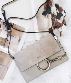 Tendance Sac 2018 : Chloe small shoulder bag 'Faye' in suede calfskin Chloe Bag, Faye Bag, Bag Prada, Balenciaga, Givenchy, Chloe Faye Small, Sacs Design, Fendi, Gucci