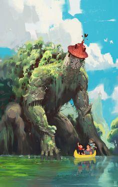 La Tour de Tarascon, Victor Maury on ArtStation at http://www.artstation.com/artwork/la-tour-de-tarascon