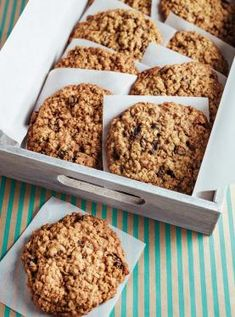 Desserts With Biscuits, Cookie Desserts, Healthy Desserts, Cookie Recipes, Dessert Recipes, Good Food, Yummy Food, Galletas Cookies, Raisin Cookies