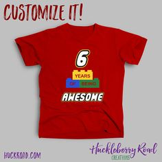 *Please see Shop Announcements before ordering* Having a Lego birthday party where everything is awesome? Customize this shirt with your childs age. Need a shirt for an AWESOME MOM or AWESOME DAD? Check out our Lego family shirts here: Lego Themed Party, Lego Birthday Party, 6th Birthday Parties, Birthday Crafts, Birthday Shirts, Boy Birthday, Birthday Ideas, Lego T Shirt, Family Shirts
