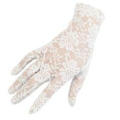 Lace Gloves, Ladies Short Lace Gloves - Ivory Lace Day Gloves