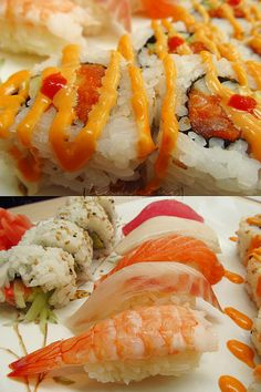 I really want Samurai sauce from Samurai Dragon. Sashimi, Sushi Recipes, Asian Recipes, Cooking Recipes, My Sushi, Best Sushi, Bento, Sushi Comida, Japanese Sushi