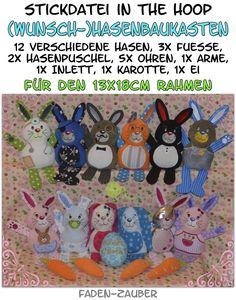 Rabbit kit (size M) - ITH for 13x18cm Frame - thread-magic