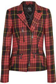 McQ Alexander McQueenZipped tartan wool blazer