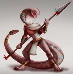 Sethrak by FlippingChicken on DeviantArt Creature Concept Art, Creature Design, Dnd Characters, Fantasy Characters, Fantasy Creatures, Mythical Creatures, The Falling Man, Snake Art, Cool Monsters