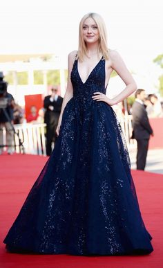 Dakota Fanning in a Elie Saab Couture gown from the F/W 13 collection.