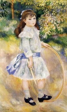 "Pierre Auguste Renoir: "" Girl with a Hoop"",  1885 - oil on canvas - National Gallery of Art, Washington."
