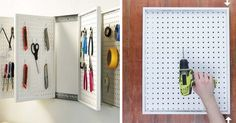 Watch the full tutorial here. | Build These Rotating Peg Boards To Clean Out Your Disastrous Drawers