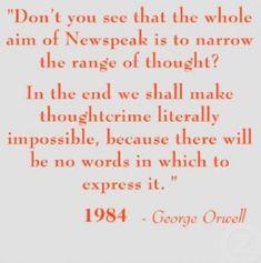 Hasil gambar untuk new speak orwell