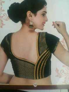 Lost in the vast variety of online products? To make it easier for you we have selected blouse back neck designs which will be great for all occasions. Patch Work Blouse Designs, Simple Blouse Designs, Stylish Blouse Design, Blouse Back Neck Designs, Latest Blouse Designs, Sari Blouse Designs, Blouse Neck Models, Designer Blouse Patterns, Patchwork Dress