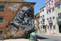Must do in Lisbon: Street Art tour - via Go Live, Go Travel 21.06.2015 | Lisbon is one of the best cities in the world to spot street art. Do not miss this side and not go on a street art tour through the Portuguese capital. #lisboa #portugal #travel #tips Photo:  Mother and Child