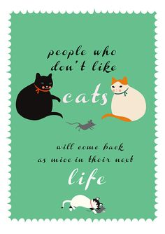 about cats and mice  art print by sevenstar on Etsy, $12.00