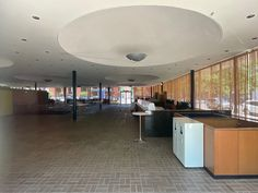 Irwin Conference Center. 1954. Columbus, Indiana. Eero Saarinen Columbus Indiana, Eero Saarinen, Conference, Kitchen, Table, Furniture, Design, Home Decor, Cooking