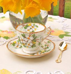 Royal Albert Fine Bone China White Dogwood Teacup Cup and Saucer Countess Cup Shape - England Circa 1940 Mothers Day Gift   by HouseofLucien